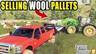 SELLING SHEEP WOOL FOR $$$ | FARMING SIMULATOR 2019 | MULTIPLAYER