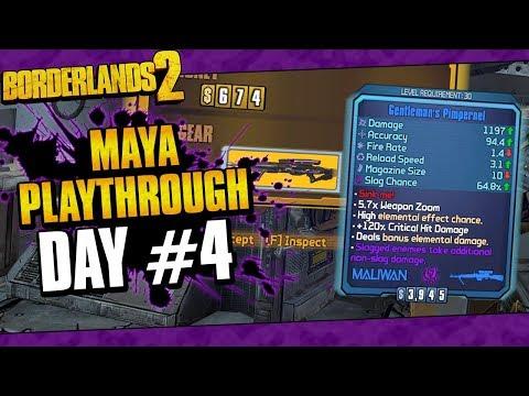 Borderlands 2 | Maya Reborn Playthrough Funny Moments And Drops | Day #4