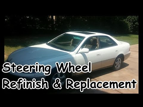 Steering Wheel Refinish and Replacement - Lexus ES300 Redo Project