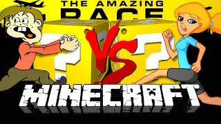 Minecraft: THE AMAZING RACE LUCKY BLOCK CHALLENGE   3 COUNTRY CHALLENGE