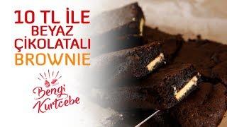 10 TL ile Yapabileceğiniz Beyaz Çikolatalı Brownie
