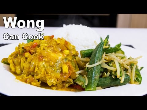 Fish Curry with Rice & Veg - Wong can cook