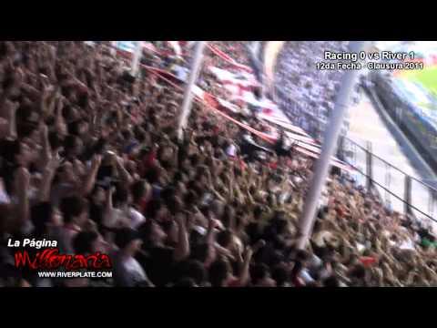 """""""Racing vs River - Les demostramos lo que es River en las malas"""" Barra: Los Borrachos del Tablón • Club: River Plate • País: Argentina"""