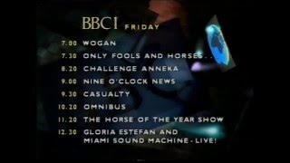 BBC1 closedown 5 Oct 1989 - and a technical fault