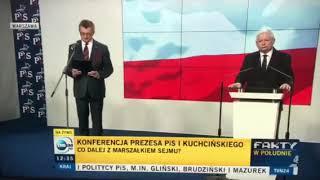 Marszałek Kuchciński złożył rezygnację!