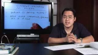 Math Help : Critical Thinking in Math