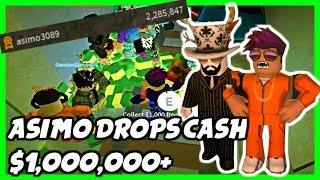 ASIMO GAVE ME MONEY! - Asimo Joined My Server In Jailbreak and Gave 1 Million Cash | Roblox