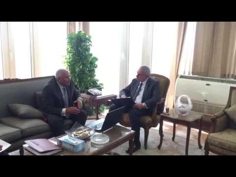 لقاء المهندس/طارق قابيل وزير التجارة والصناعة مع السيد اللواء/محافظ الوادى الجديد