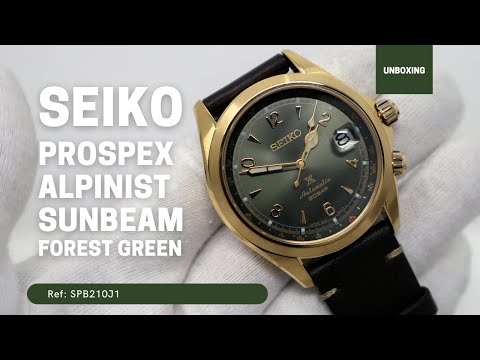 SEIKO PROSPEX ALPINIST AUTOMATIC WATCH IN GREEN AND GOLD SPB210J1