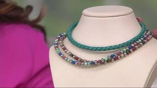 American West Gemstone Bead Necklace or Bracelet on QVC