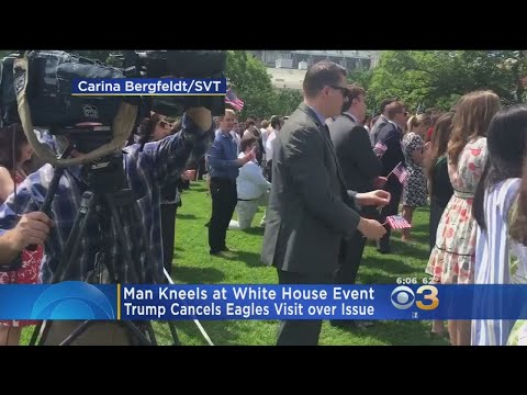 Man Kneels During Anthem At White House 'Celebration Of America' Event
