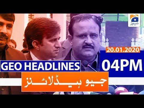 Geo Headlines 04 PM | 20th January 2020