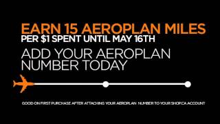 Big News! Earn Aeroplan Miles on SHOP.CA!