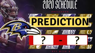 Baltimore Ravens 2020 Schedule Predictions 🏈🏈🏈🏈