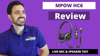 MPOW HC6 Dual Speaker Wired USB Headset Review - LIVE MIC & SPEAKER TEST!