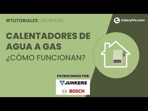 ¿Cómo funcionan los calentadores de agua a gas?