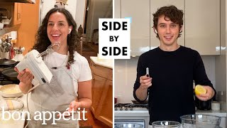 Troye Sivan Tries to Keep Up With a Professional Chef | Side-by-Side Chef | Bon Appétit