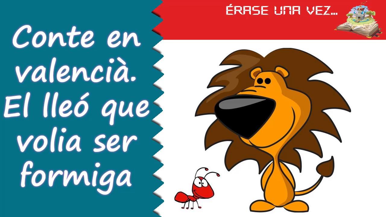 Conte en valencià. El lleó que volia ser formiga