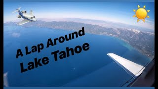 A Flight Around Lake Tahoe- Private Jet Flight into Truckee