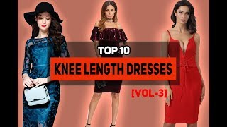 Top 10 Affordable Knee Length Dresses|Below The Knee Dresses Collection For Women[Vol-3]