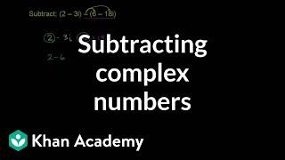 Subtracting Complex Numbers