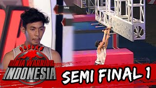 Video Adji Lumbodro Gagal Di Tantangan Monkey Peg [Sasuke Ninja Warrior Indonesia]  [3 April 2016]