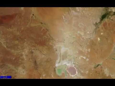 Here Is What Lake Eyre Looks Like From Space Over Five Years