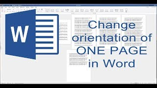 How to change one page to landscape in Word. Change the orientation of one page in Word. (2019)