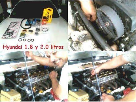 Cambio de correa y cadena de tiempo Hyundai 1.8 y 2.0 litros