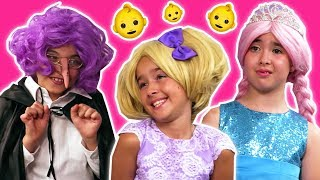 Granny Comes To Babysit 👶 Olivia and Esme get Pranked! - Princesses In Real Life | Kiddyzuzaa