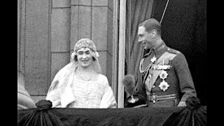 The Queen Mother marries the future King George VI at Westminster Abbey