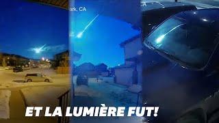 W Kanadzie w środku nocy na niebie świeci meteor.
