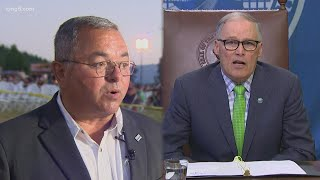 Preview of Washington governor's debate on KING 5 between Gov. Jay Inslee and challenger Loren Culp