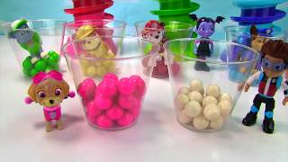 Learn Colors with Paw Patrol Vampirina Gumball Machine Banks   Fizzy Fun Toys