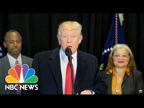President Trump Pledges 'Promise Of Freedom' At African-American History Museum | NBC News