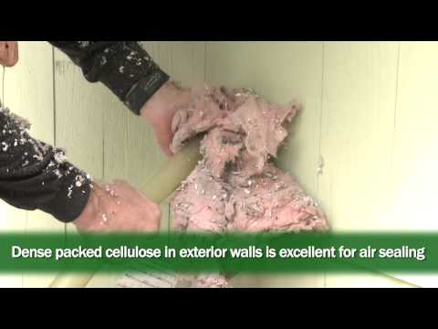 Insulating Walls with Dense Packed Cellulose