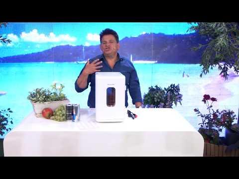 Rosenstein & Söhne Mobiler Mini-Kühlschrank mit Wärmefunktion, 12 & 230 V, 8 Liter