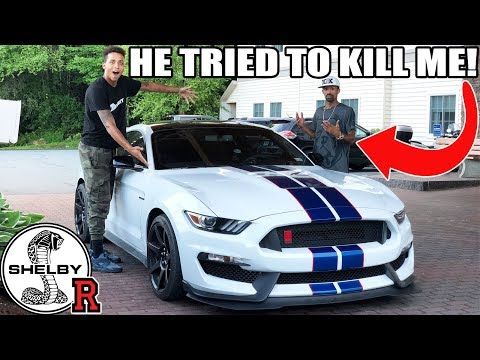WE ALMOST CRASHED HIS MUSTANG GT350R INTO A TRUCK!!