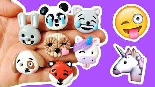 DIY UNICORN, PANDA, CAT & MORE EMOJI! Polymer Clay Tutorial