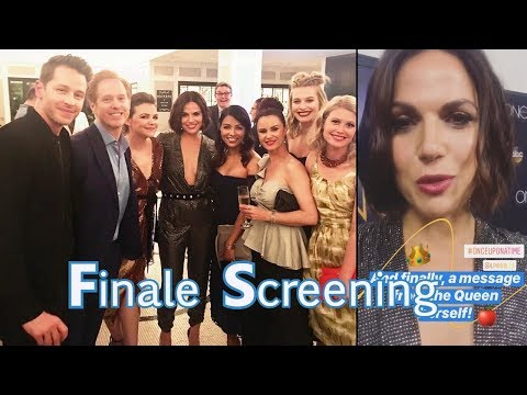 Once Upon a Time Series Finale  Screening Cast Photos and Live Instagram