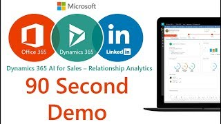 Microsoft Dynamics 365 AI for Sales - Relationship Analytics demo (90 Seconds)