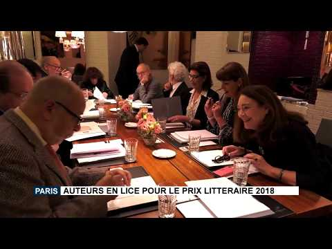 Paris: Authors shortlisted for the 2018 Literary Prize