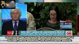 Mesereau's reaction to the AEG trial verdict on New Day 10 3 2013 sub ita