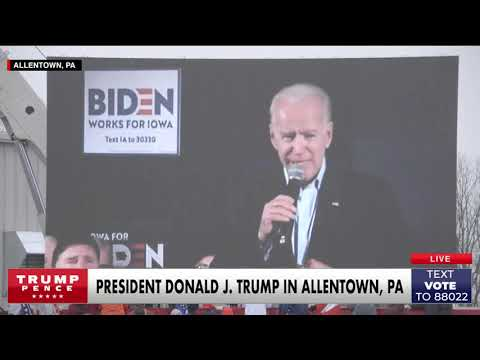 Must Watch: President Trump Plays a Devastating Video for Joe Biden in Pennsylvania!