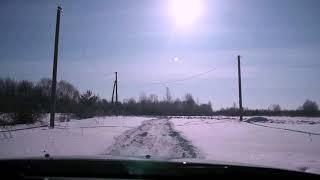 зима дизель дастер   деревня поле