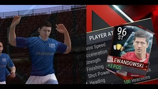 FIFA Mobile League Master Robert Lewandowski Gameplay! 95 LVL Master Lewandowski Review!