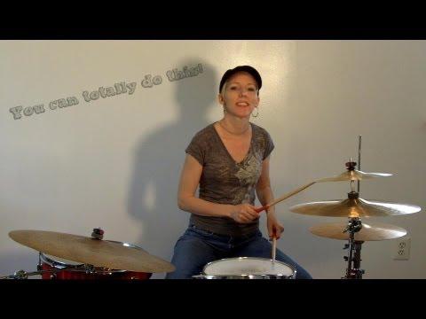 Beginner Drum Lesson - 6/8 beat - Praise and Worship