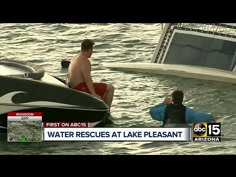 Video Storm causes chaos at Lake Pleasant