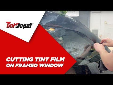 Cutting Tint Film On Framed Window