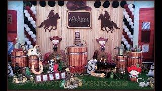 Amazing Western Cowboy Theme Party Decor Ideas In Pakistan   1st Birthday Ideas For Boy